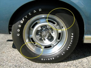 Tire pressure guidelines on tire